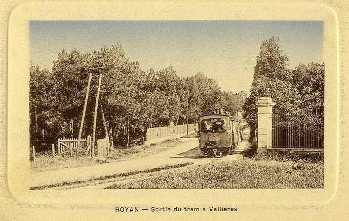 La sortie du tramway à Vallieres